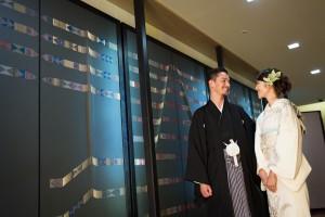 婚礼会食会にもお似合い 「白訪問着」の花嫁衣裳